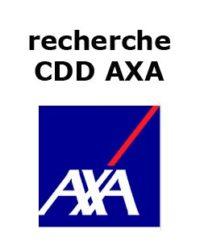 recherche CDD AXA